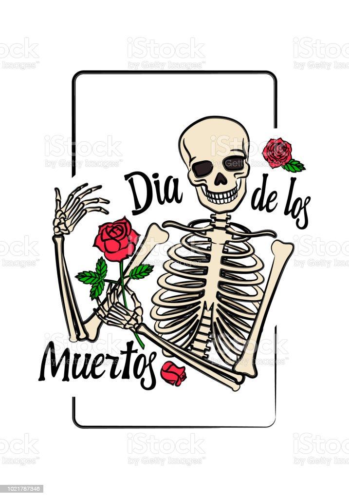Ilustración de Gráfico De Color Del Esqueleto Humano Con Sonriente ...
