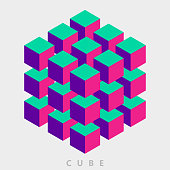 color group of cube pattern