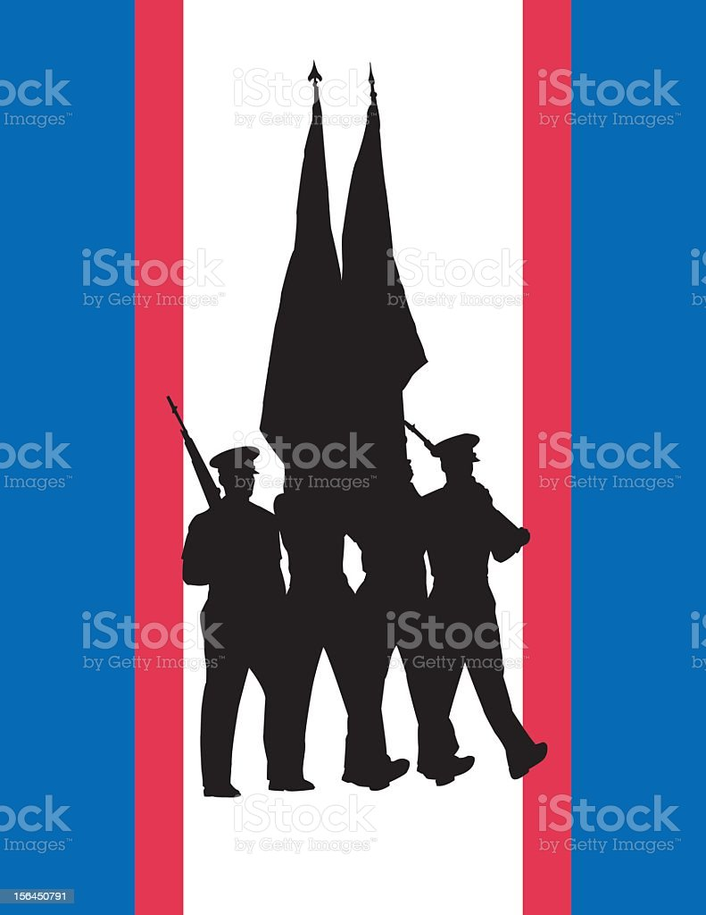 Color Guard royalty-free color guard stock vector art & more images of army