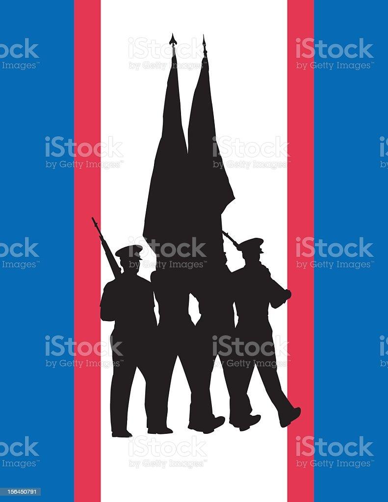 Color Guard vector art illustration