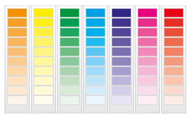 Color guide chart, part 1 vector art illustration