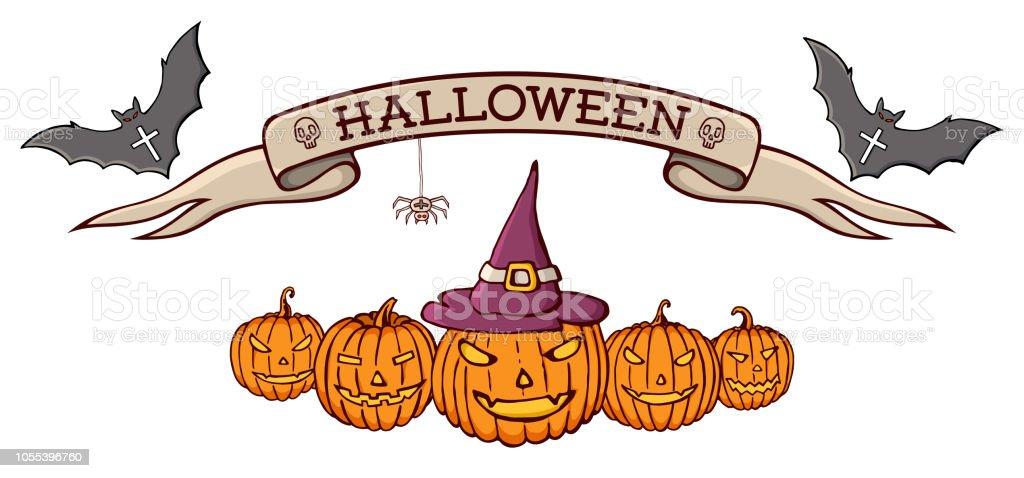 Color Hand Drawn Doodle Cartoon Elements Of Halloween Celebration