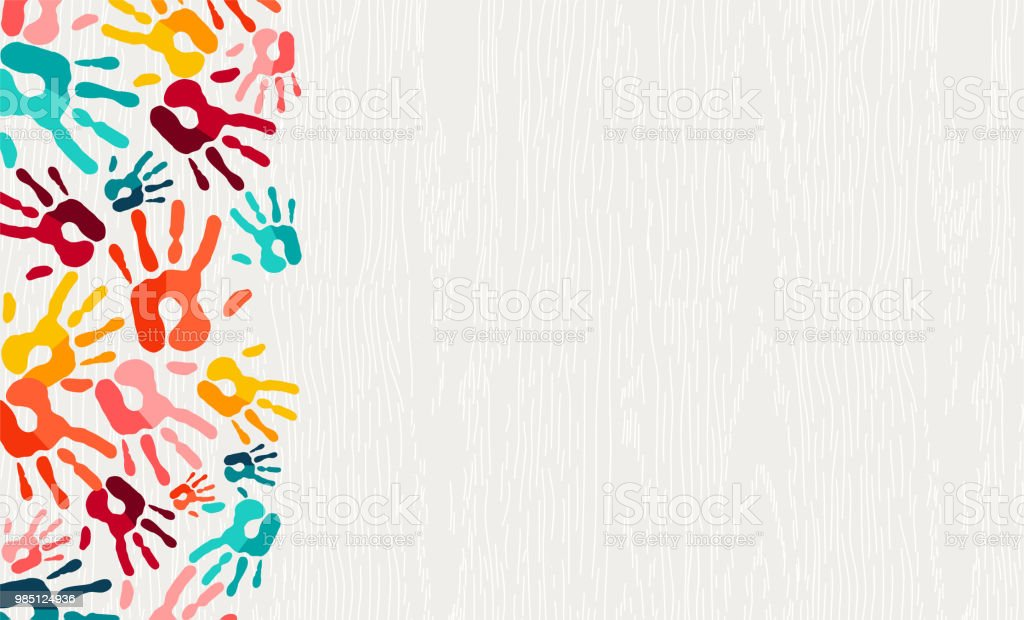 Color Hand Print Paint Background Art Stock Illustration