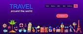 vector illustration travel concept for landing page, web, ui, banner, flyer, poster, template, background