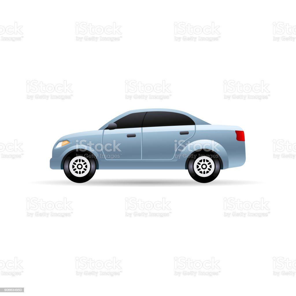 Color Icon - Car vector art illustration