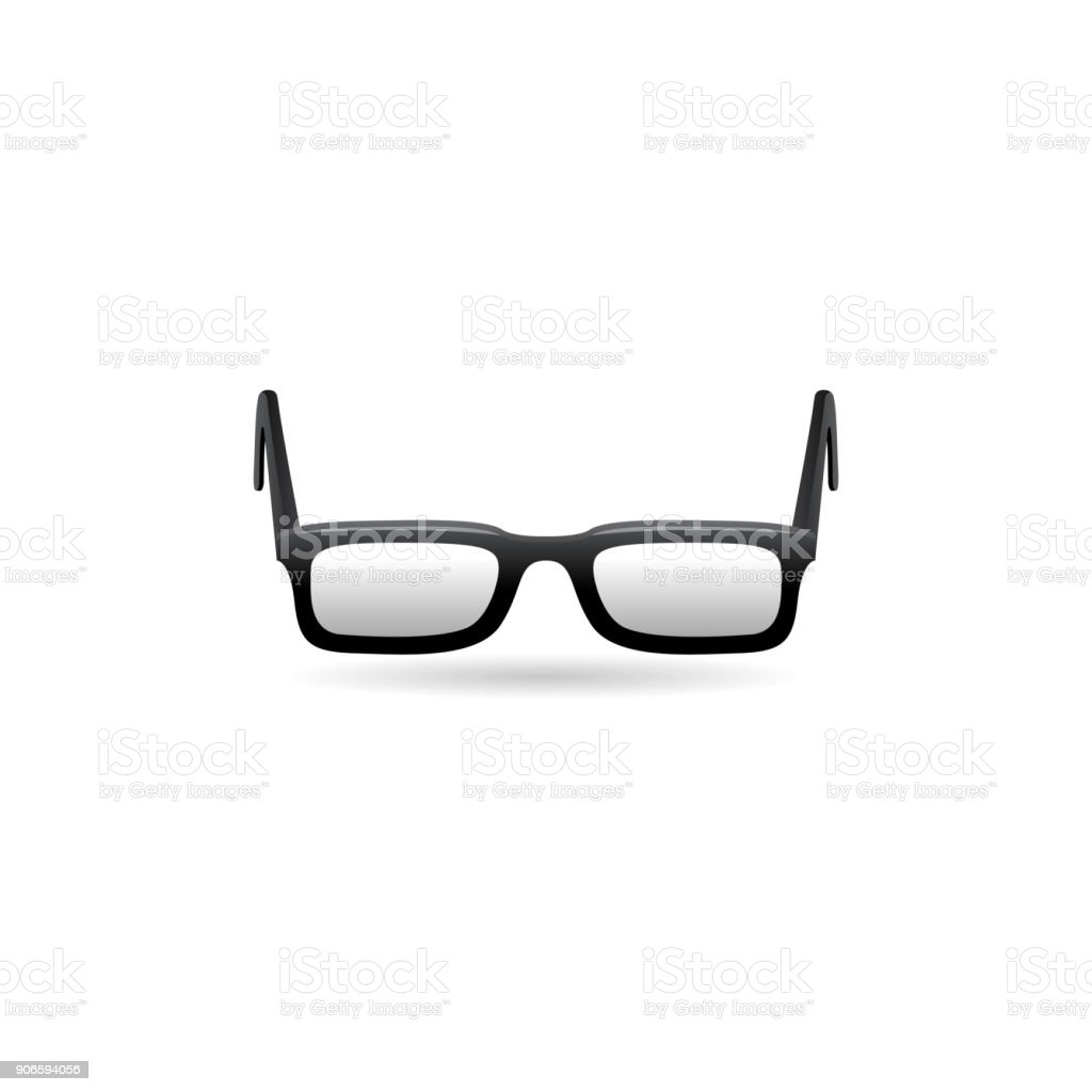 Color Icon - Eyeglasses vector art illustration