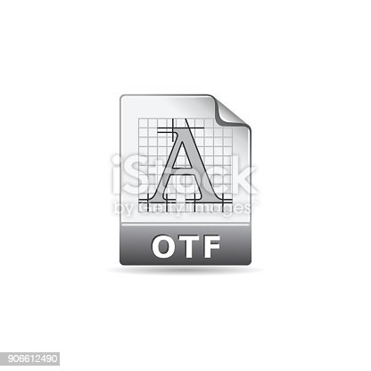 istock Color Icon - Open type file format 906612490
