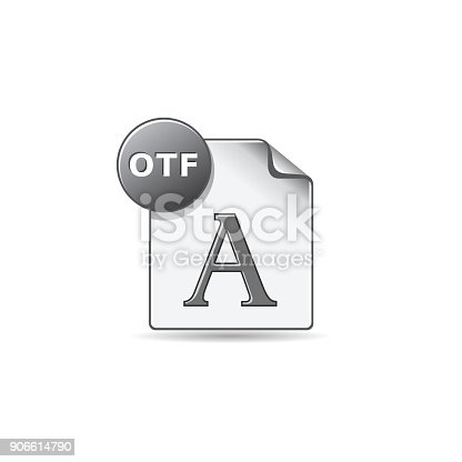 istock Color Icon - Open type file format 906614790