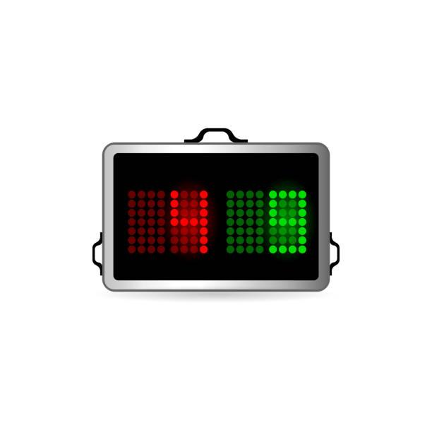 bildbanksillustrationer, clip art samt tecknat material och ikoner med färgikonen - spelare substitution board - changing bulb led