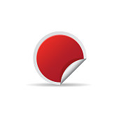 Sale sticker icon in color. Label shopping buying