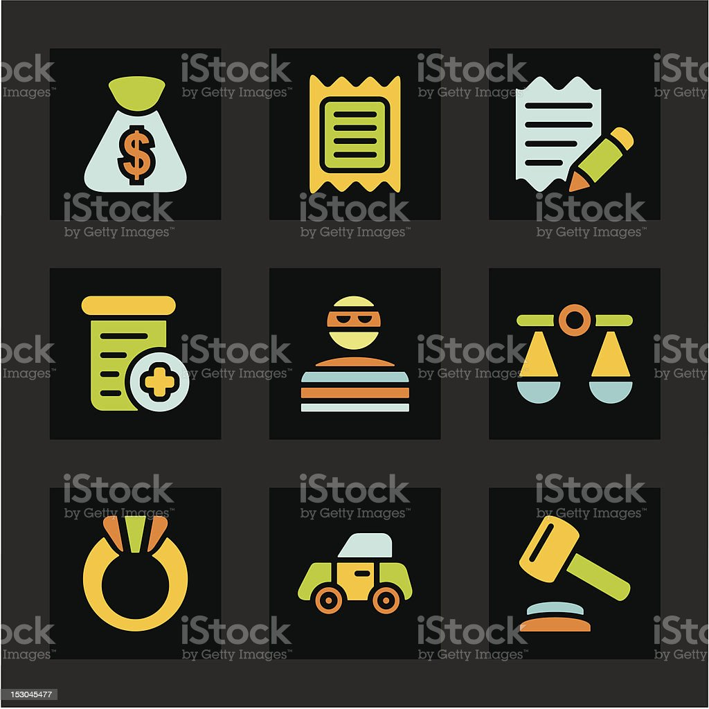 Color Icon Series - Finances Icons royalty-free color icon series finances icons stock vector art & more images of auction