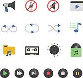 Color icon set - audio