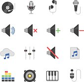 Color icon set - audio