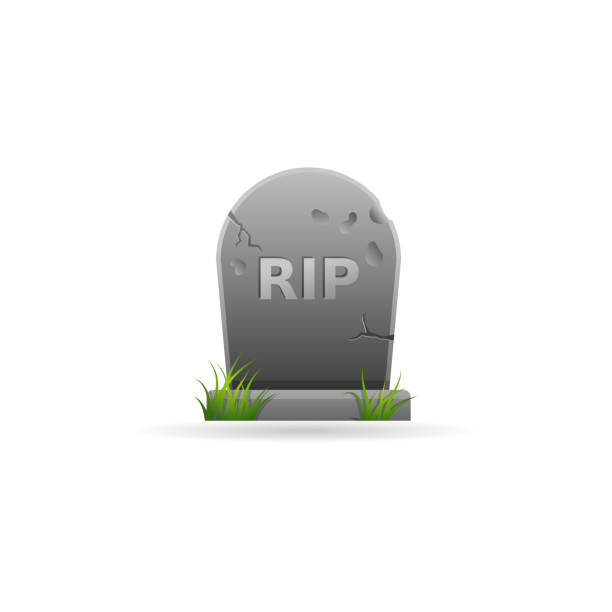 color icon - tomb stone - tombstone stock illustrations, clip art, cartoons, & icons