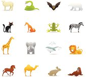 Animals color icons.