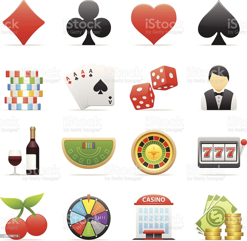 Color Icons - Casino royalty-free stock vector art