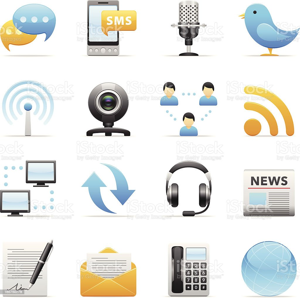 Color Icons - Communication royalty-free color icons communication stock vector art & more images of arts culture and entertainment