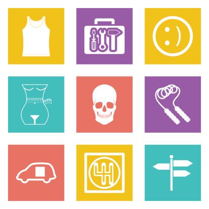 Color icons for Web Design set 28