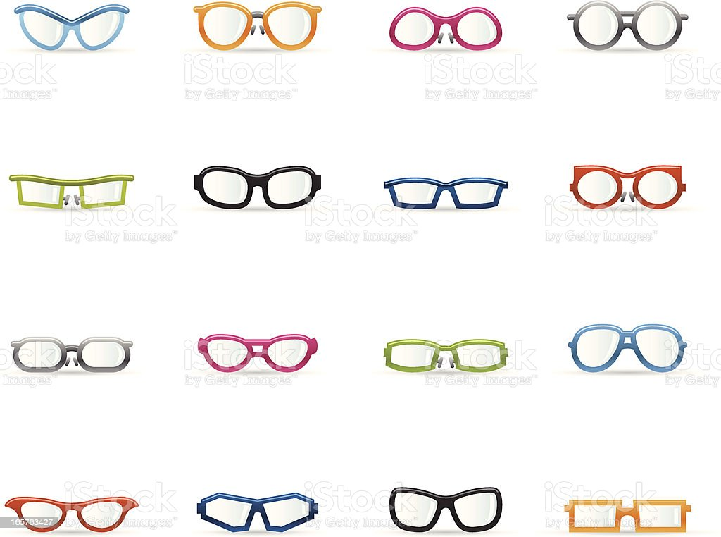 Color Icons - Glasses royalty-free stock vector art