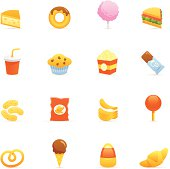 Junk Food color icons.