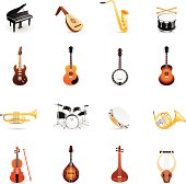 Color Icons - Musical Instruments