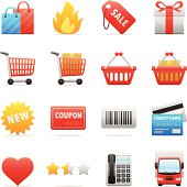 16 online shopping icons
