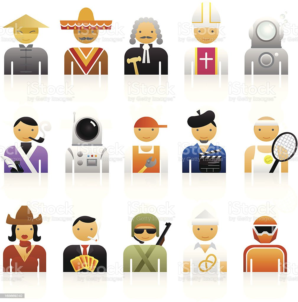 Color Icons - Professions royalty-free stock vector art