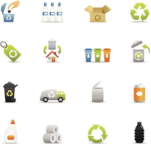 farbe icon-recycling - altglas stock-grafiken, -clipart, -cartoons und -symbole