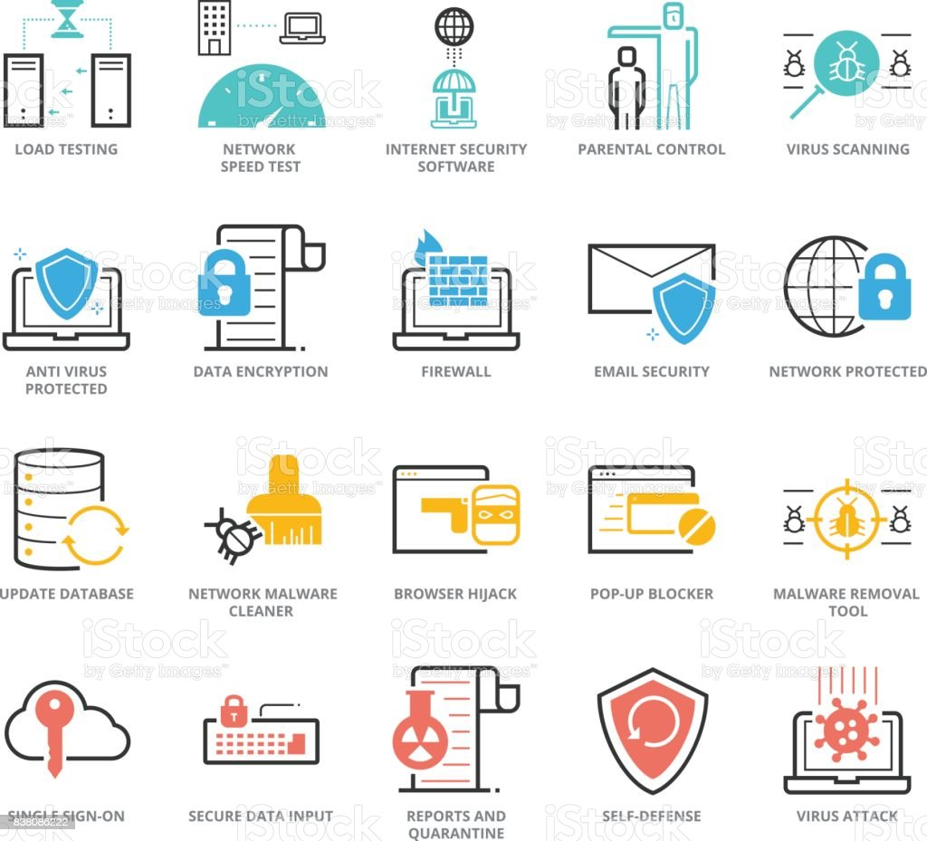 Color icons set of anti virus and network security for web color icons set of anti virus and network security for web development pixel perfect icons ccuart Gallery