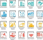 Color Icons set of Types Of Websites