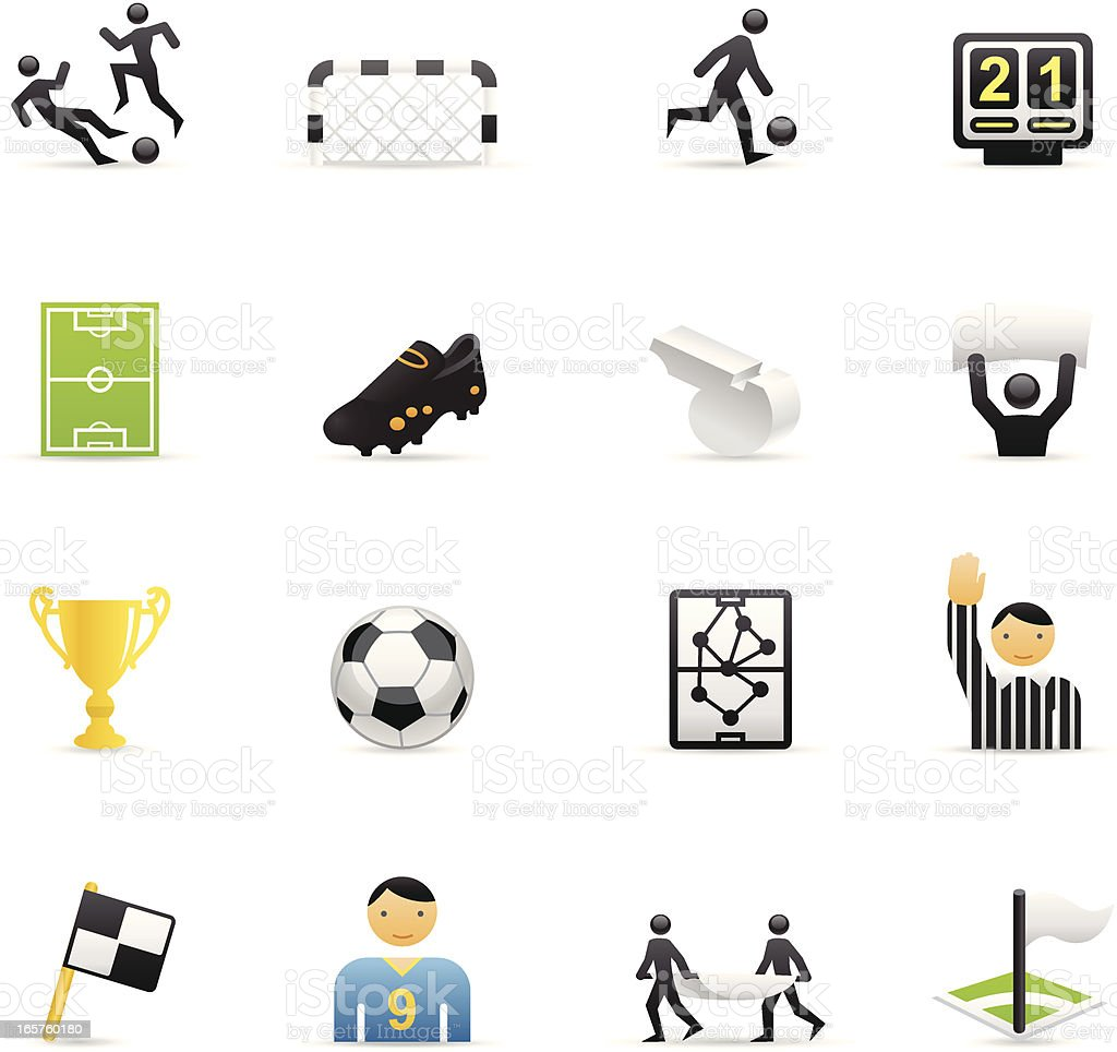 Color Icons - Soccer royalty-free color icons soccer stock vector art & more images of adult