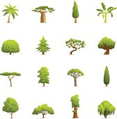 Illustration of Green Tress color icons.