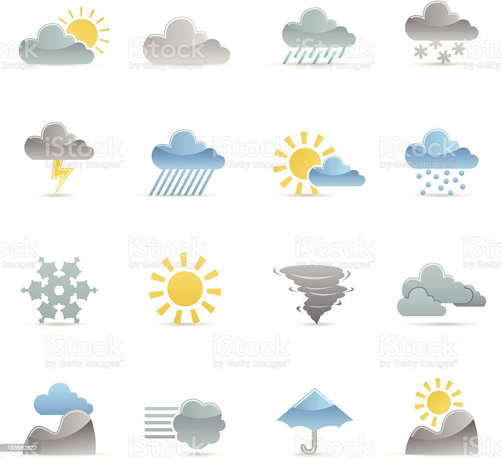 Color Icons - Weather royalty-free color icons weather stock vector art & more images of cartoon