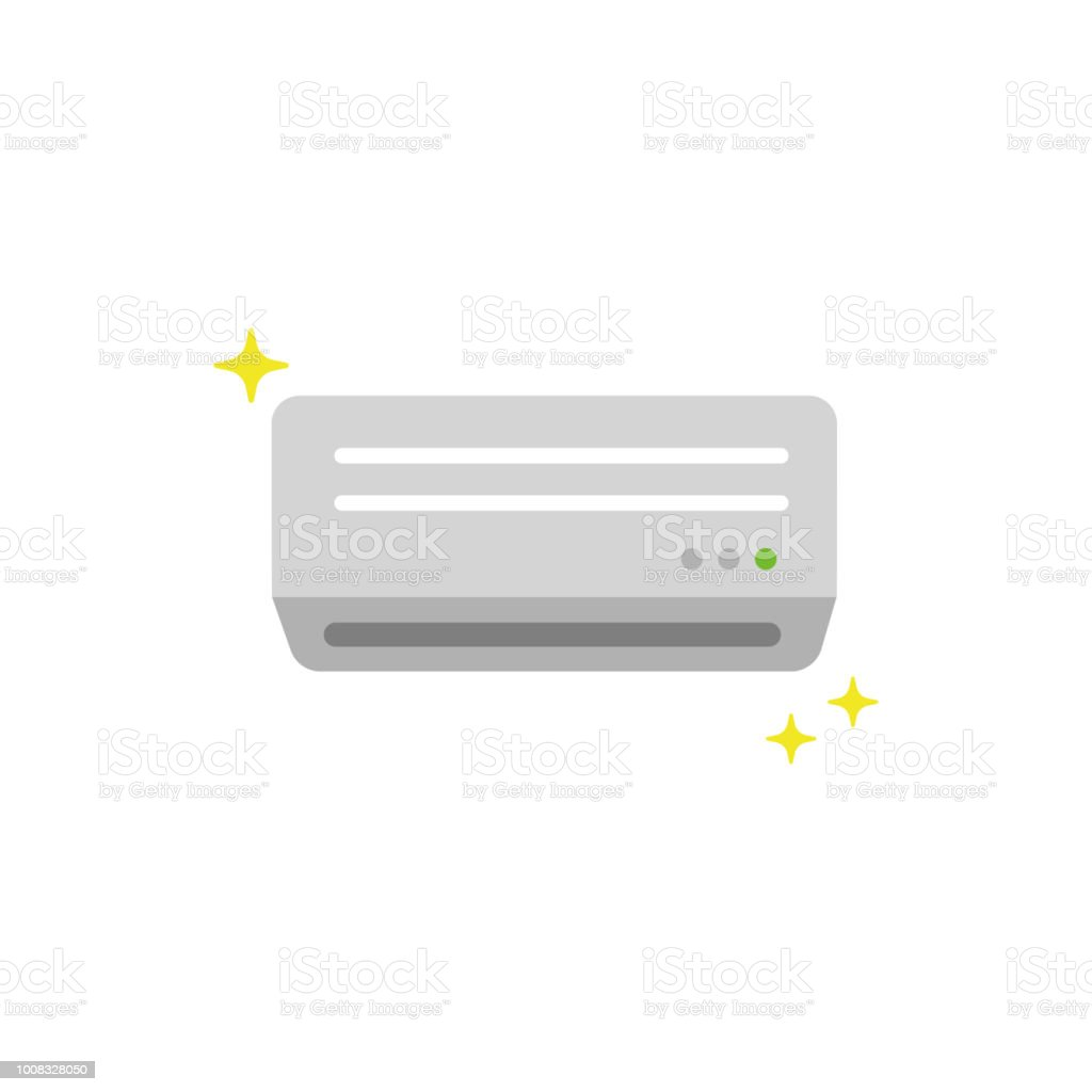 AC ( air conditioner) color illustration / buy new one,renewal vector art illustration