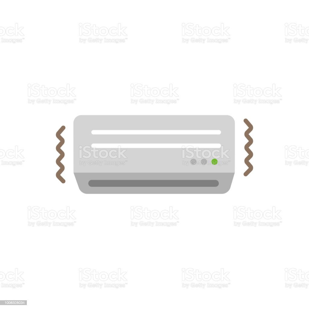 AC ( air conditioner) color illustration / out of order,borke vector art illustration