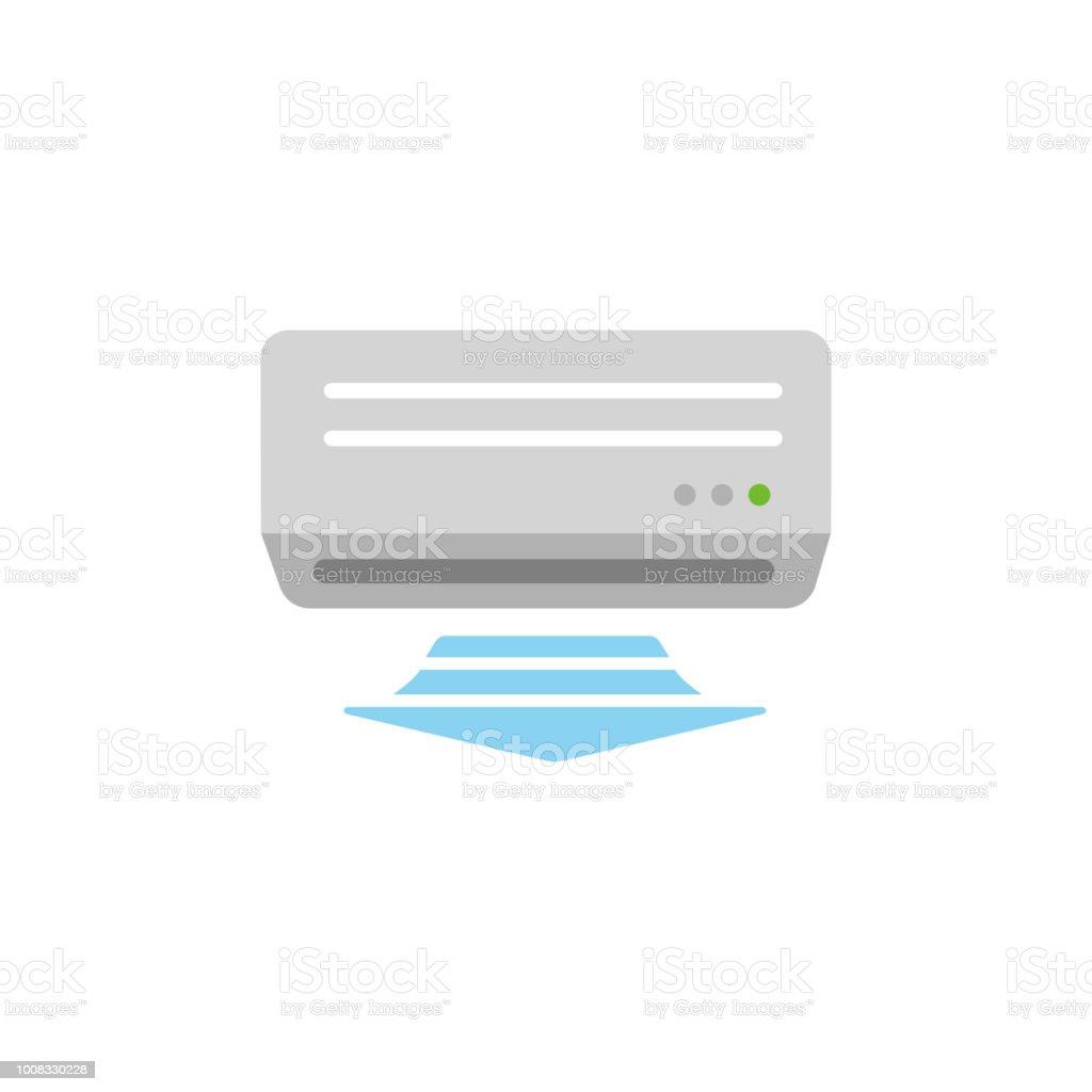 AC (air conditioner) color illustration vector art illustration