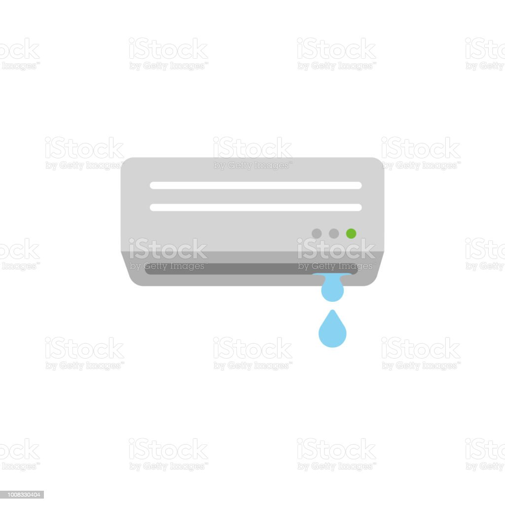 AC ( air conditioner) color illustration / water leaking vector art illustration