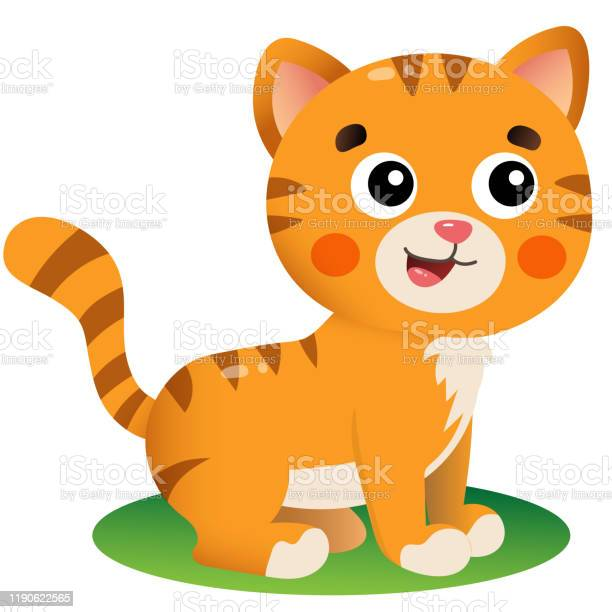 Color image of cartoon red cat on white background pets vector for vector id1190622565?b=1&k=6&m=1190622565&s=612x612&h=yyre5gu9iilejjteogmeiokungrotcyjkjjk2sol2gc=