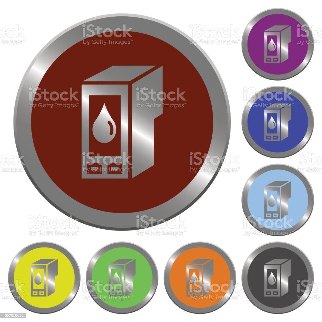 Color ink cartridge buttons vector art illustration