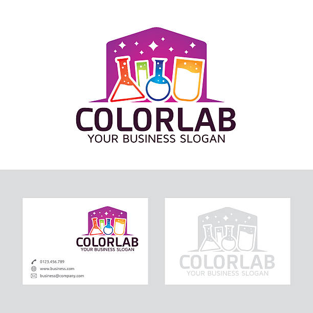Royalty free lab results clip art vector images illustrations color lab vector logo with business card template vector art illustration reheart Images