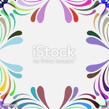 color leaf ornate pattern background