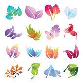 Color leaves set