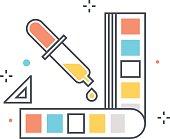 Color line, color picker concept illustration, icon