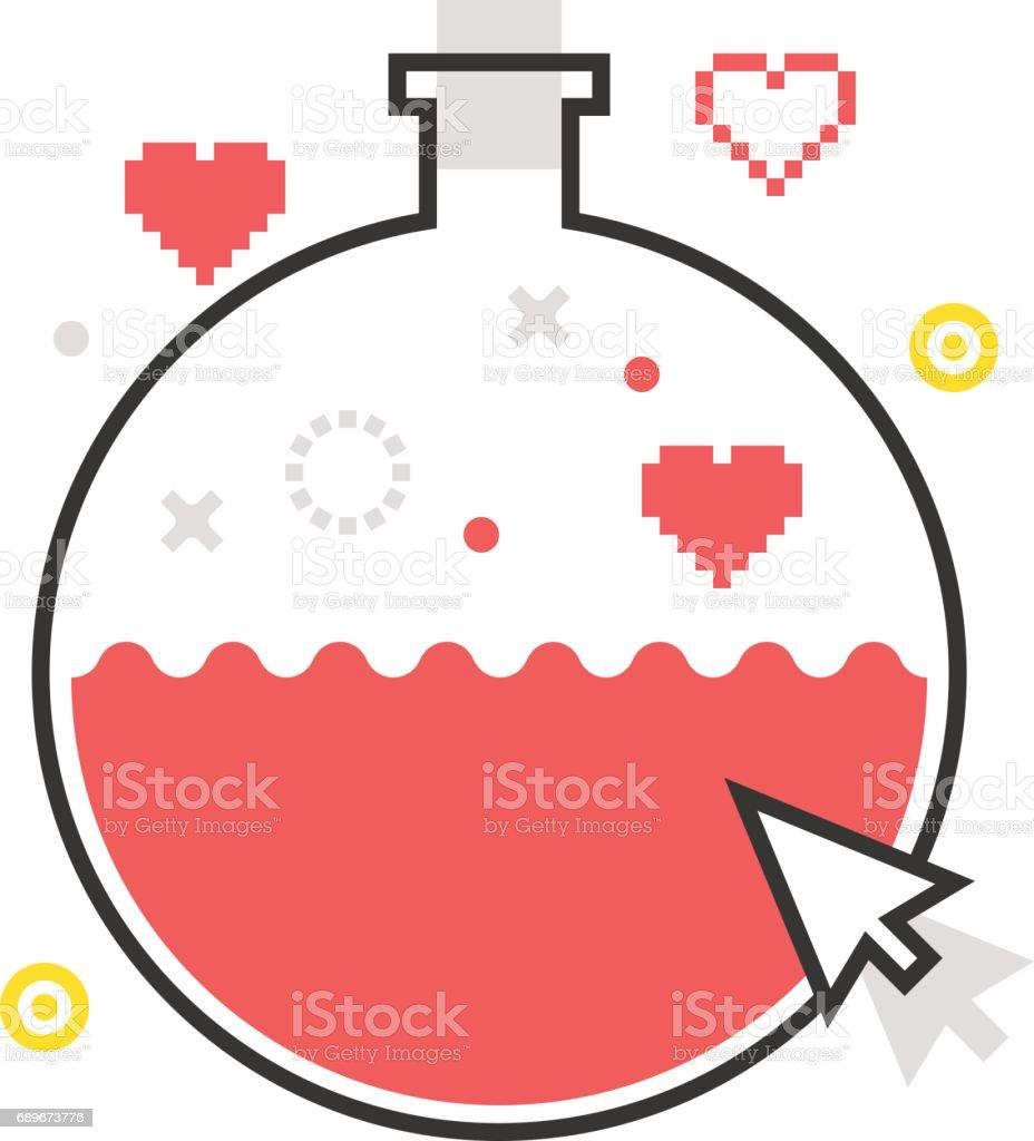 Color line, potion illustration, icon vector art illustration