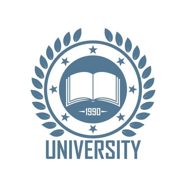 ilustrações, clipart, desenhos animados e ícones de logotipo da cor da escola - universidade