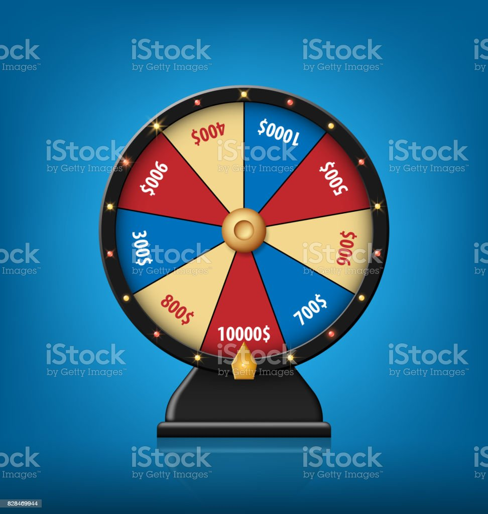 color lucky wheel template realistic wheel of fortune isolated on