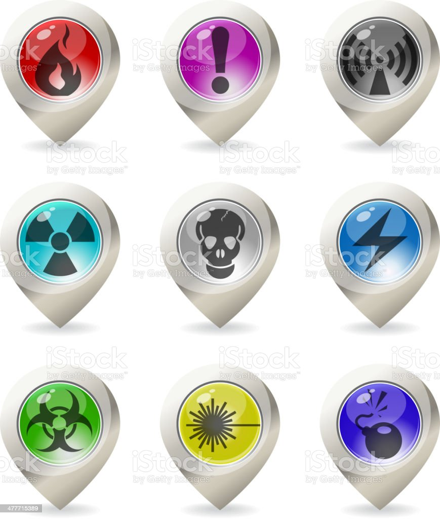 Color map pointer royalty-free color map pointer stock vector art & more images of biohazard symbol