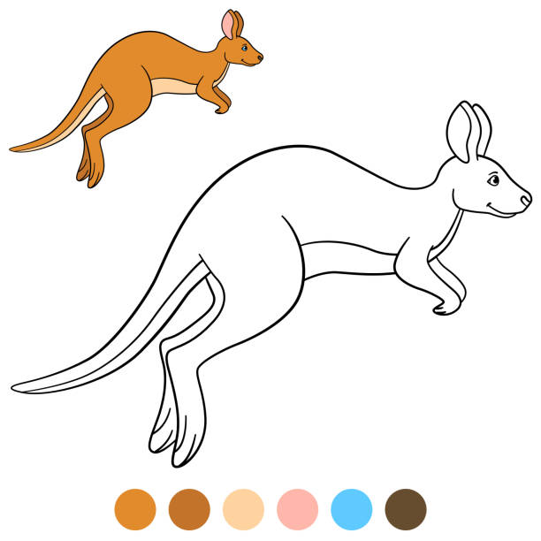 Royalty Free Funny Kangaroo Drawings Clip Art, Vector ...
