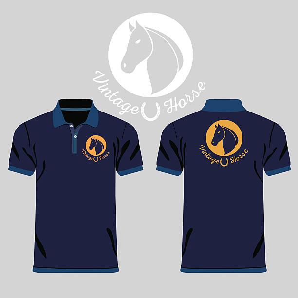 Color men polo shirts vector art illustration