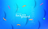 Color modern background. Colorful presentation backdrop. Cover design template. Vector background for poster, report, banner, any document page. Liquid fluid trendy futuristic color shapes. A4.